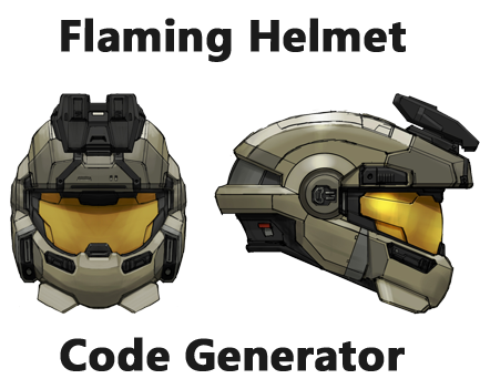 Flaming Helmet Code Generator