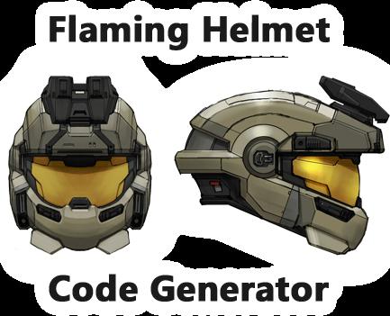 Flaming Helmet Code Generator