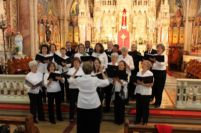 Our Lady of Sorrows Choir: Singing in Dublin at John's Lane Church.  Photo by Dan Ruffin
