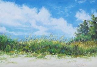 sanibel island, pastel painting, beach