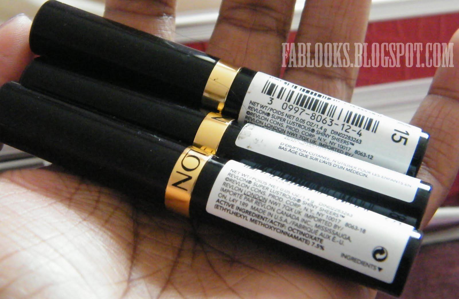 Relvon Sheer lipsticks $1.00