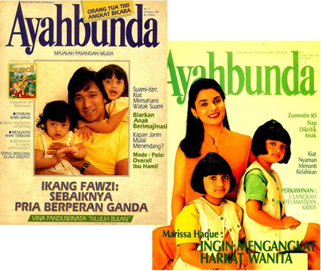 Cover Majalah Ayah Bunda Ayah Ikang & Ibu Icha
