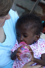 D'Jounela  and Mommy in Haiti