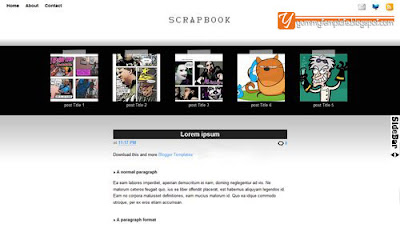Scrapbook, 3 Column, Free Template Download