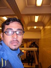 Paúl Puma en el metro de Berlín