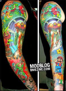 brazo juego tatuaje