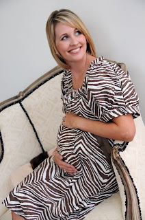 Cocoa Chanel-cute, chic, stylish hospital gown, labor & delivery