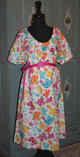 English Rose-cute, chic, stylish hospital gown, labor & delivery