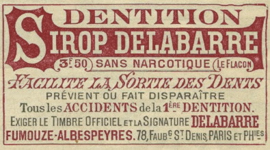 dentition sirop Delabarre