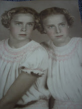 Betty & Barbara - my mother and her twin sister xoxo