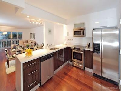 Interior y Cocina de apartamento en Miami Beach