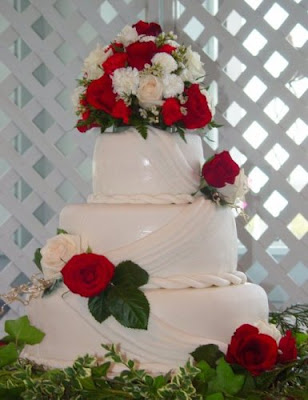 Country Living Wedding cake at wedding reception Gristmill Backery