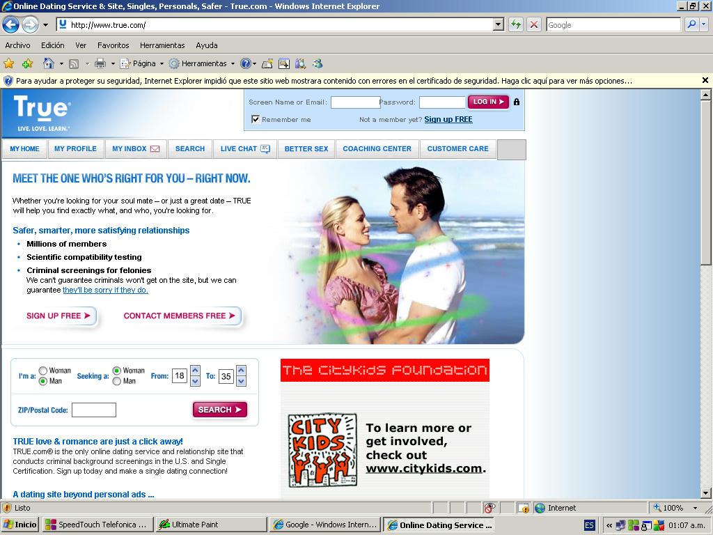 Online dating true