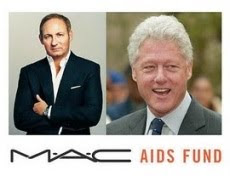 M.A.C. DONATED TO WILLIAM J. CLINTON FOUNDATION FOR HIV/AIDS