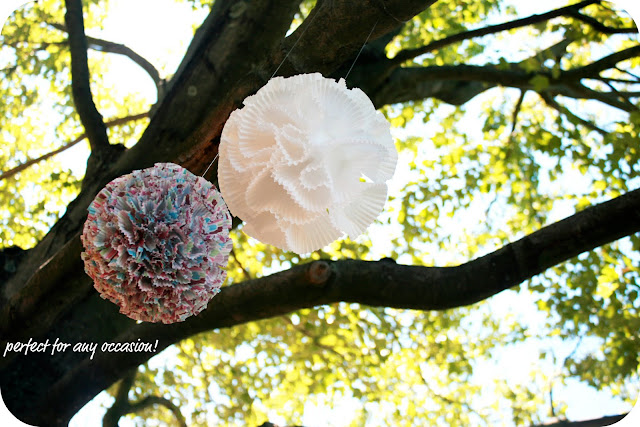paper crafts for kids: cupcake liner pom-poms tutorial
