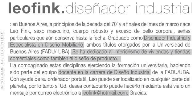 leo fink | diseño