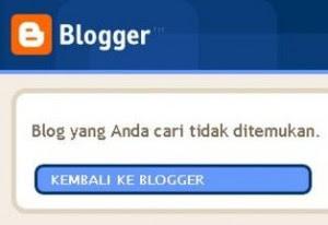 Blog Saya Dihapus Blogger !!