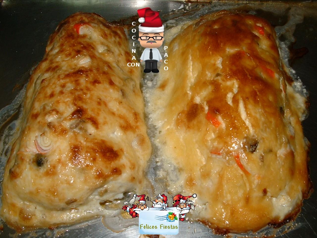Cocina con paco merluza rellena for Merluza rellena al horno