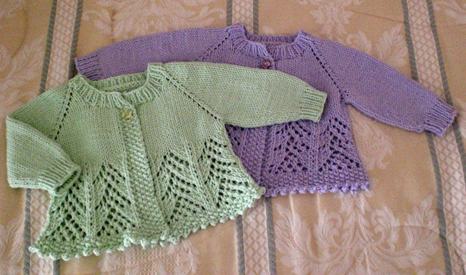Baby Girl Knitted Sweater Pattern : Day to Day: FO: more baby sweaters