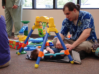 ted and griffin shade playing at the avondale library