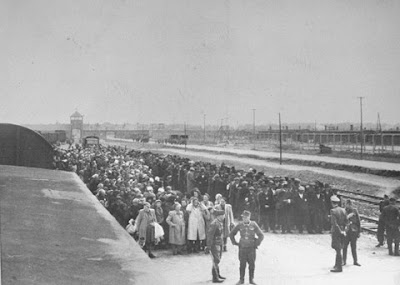 Selection process at the gates of Auschwitz
