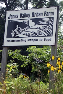 jones valley urban farm sign