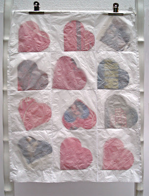 Recycled Paper Heart Posters