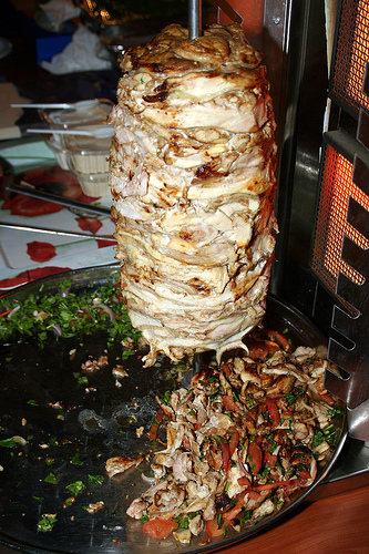 Shawarma spin game for prizes