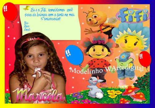 Convites Infantis Fifi e os Floriguinhos