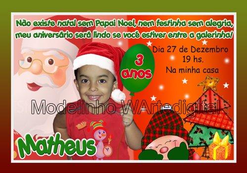 Convites Infantis Natal