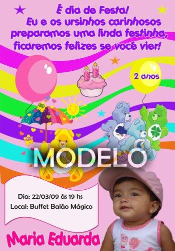 Convites Infantis, convite Infantil