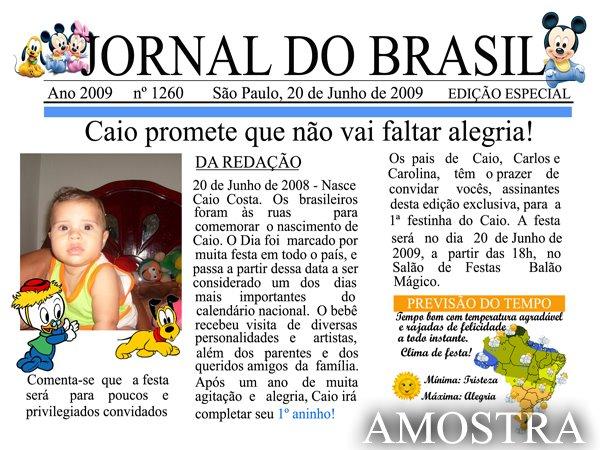 Convite Infantil Jornal