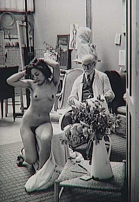 Nu bleu... Matisse+dessinant+un+nu+dans+son+atelier+de+la+rue+des+Plantes,+Brassa%C3%AE,Halasz+Gyula+collection+priv%C3%A9e