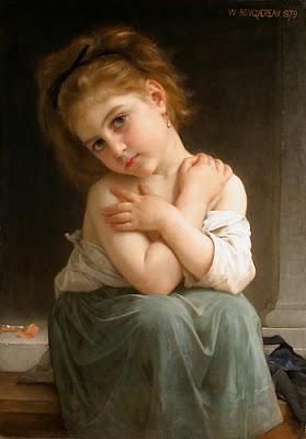 Une Frileuse pour ces temps de Frimas Bouguere,La+Frileuse+1879