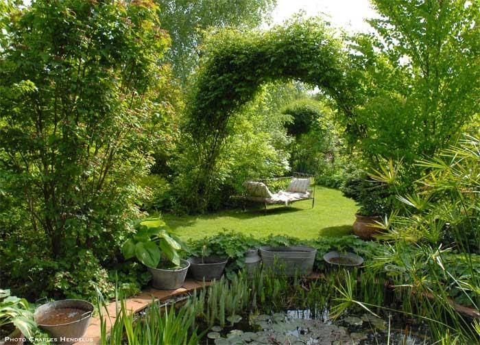 Nibelle et baudouin le jardin de chantal et alain jouy for Jardin 0 l4anglaise