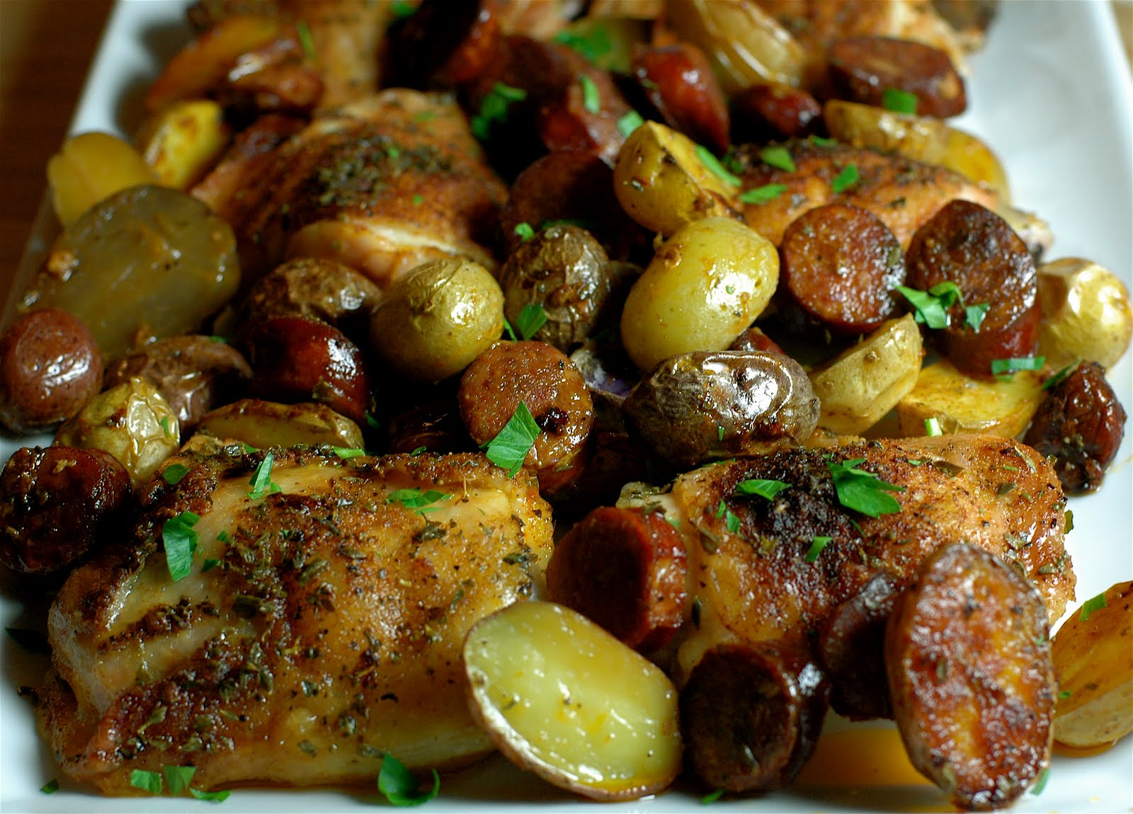 ... Cook: Roasted Smoked Paprika Chicken with Spicy Chorizo and Potatoes