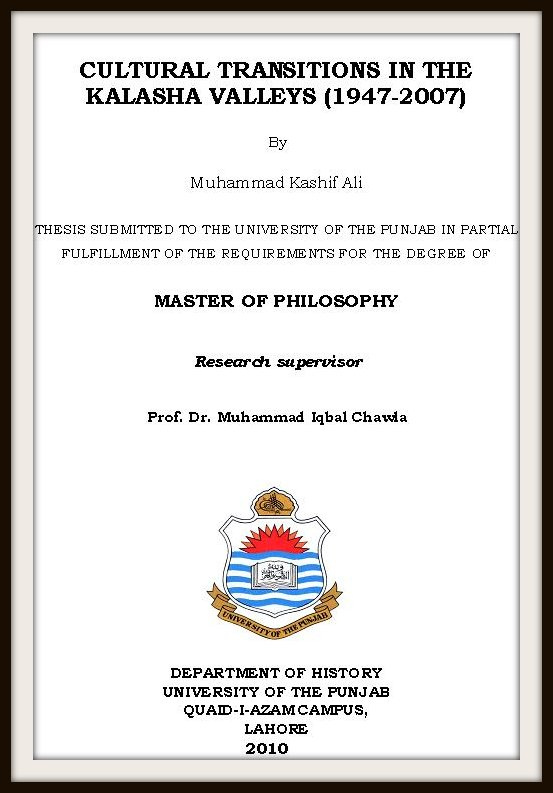 cover page of thesis