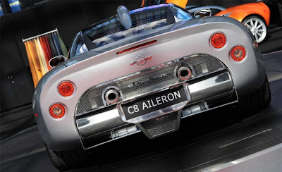 2010 Spyker C8 Aileron Rear View