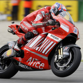 Casey Stoner Standing of Road