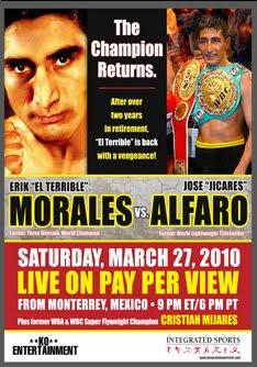 erik morales vs jose alfaro poster
