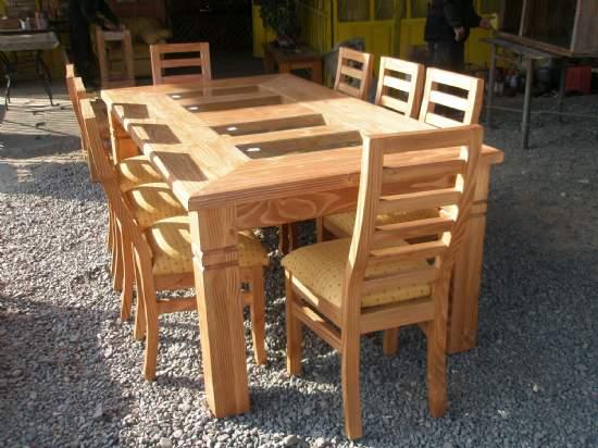 Arteysania comedores for Imagenes de comedores de madera