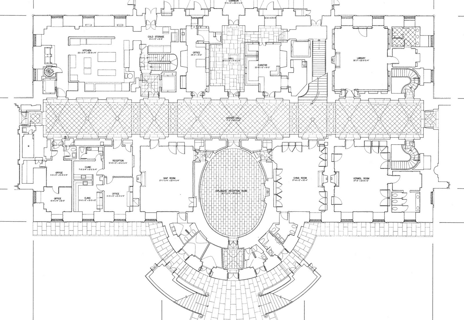 Mansion floor plans the white house ground floor Ground floor house plan