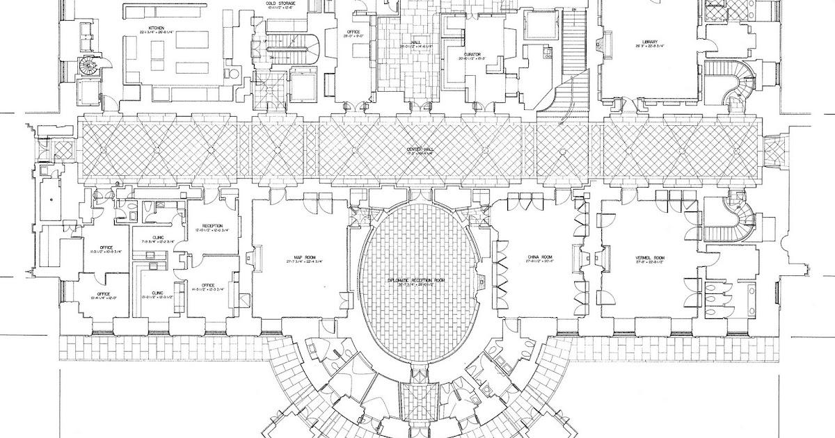 Mansion Floor Plans The White House Ground Floor