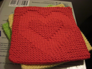 Free Knitting Pattern Dishcloths Using Size 8 Needles : A Knitting Mountain: Love Washcloth Pattern