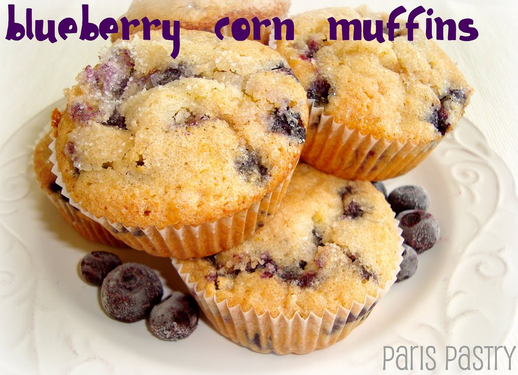 Paris Pastry: Blueberry Corn Muffins