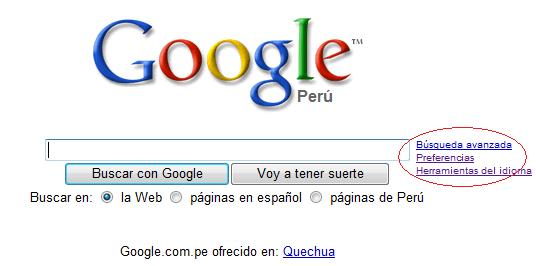 Preferencias en Google