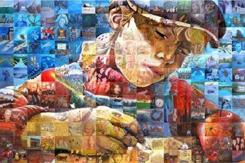 Hermosas figuras artisticas en Mosaico