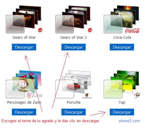 Descargar temas para Windows 7 gratis
