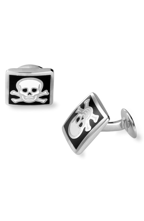 [Cuff+Links+-+David+Donahue+Skull+And+Bones]