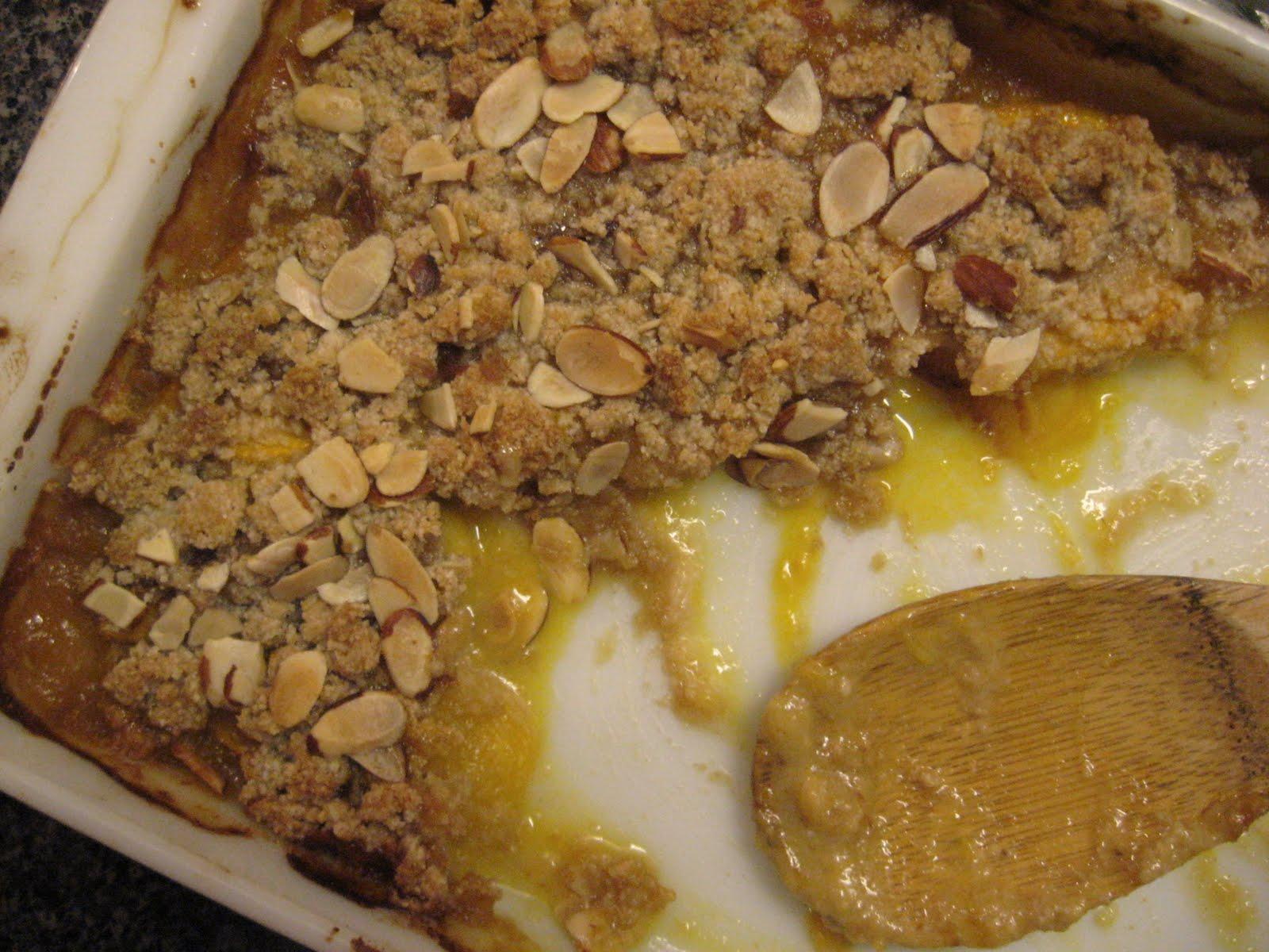 gluten free peach almond crisp recipe free of gluten dairy